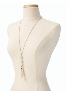 Bead Tassel Necklace