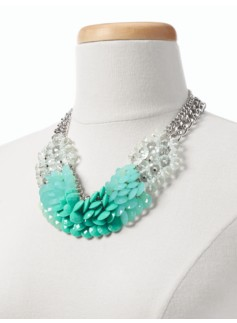 Mixed-Bead Bib Necklace
