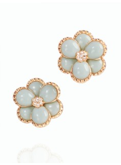 Flower-Petal Clip-on Earrings