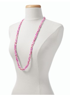 Long Twisted Seedbead Necklace