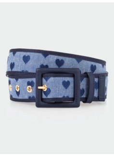 Heart Chambray Belt
