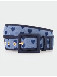 Heart Chambray Belt