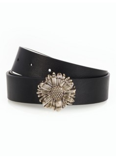 Novelty Buckle Reversible-Leather Belt