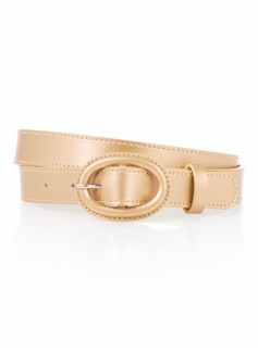 Womans Metallic Leather Belt