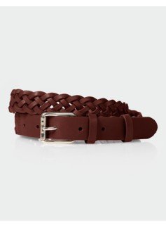Womans Braided Leather Belt