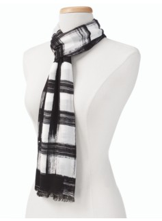 Watercolor Plaid Scarf