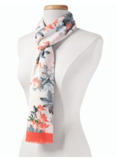 Botanical Flowers Scarf