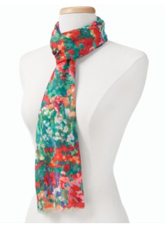 Impressionist Floral Scarf