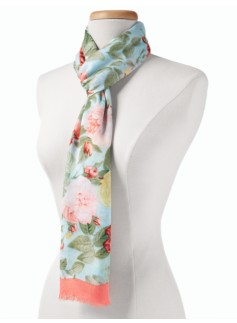Tea-Rose Print Scarf