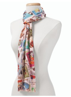 Butterfly-Stamp Scarf