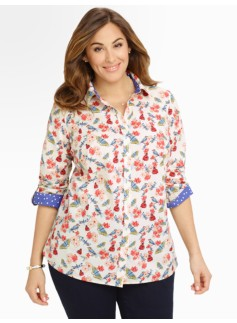 Butterfly & Flowers Shirt