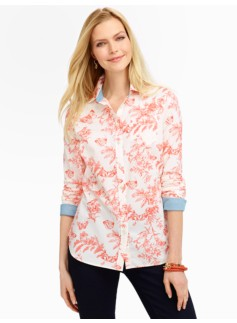 Butterfly Toile Shirt