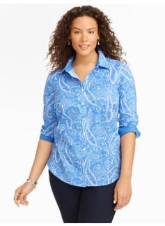 Wrinkle-Resistant Paisley-Print Shirt