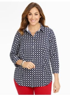 Wrinkle-Resistant Polka-Dot Shirt