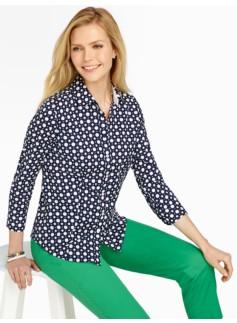 Wrinkle-Resistant Polka-Dot Shirt