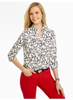 Talbots Heart-Print Nantucket Shirt