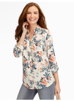 Talbots Nantucket Flower Clusters Shirt