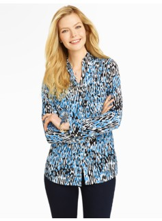 Talbots Nantucket Shirt - Animal Print