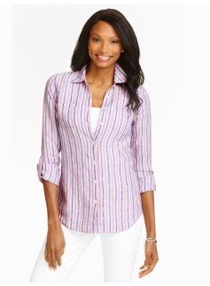 Patio Stripes Linen Shirt
