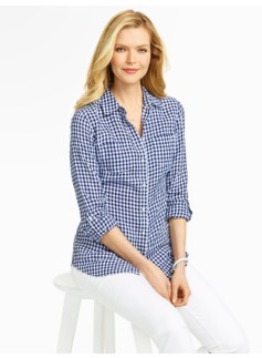 Gingham Checks Linen Shirt