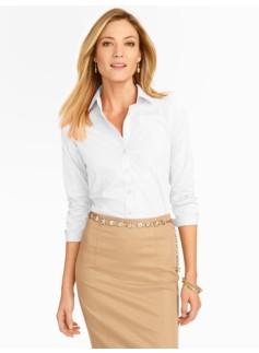 Wrinkle-Resistant Three-Quarter Sleeve Poplin Shirt