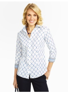 Geo-Links Wrinkle Resistant Blouse