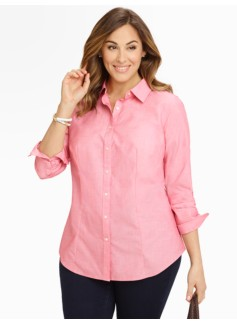 Wrinkle-Resistant End-On-End Shirt