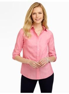 Wrinkle-Resistant End-On-End Shirt