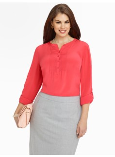 Washable Silk Pintuck Blouse