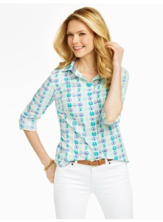 Flip-Flop Print Cotton Shirt