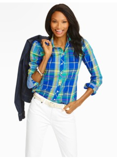 Country Plaid Cotton Shirt