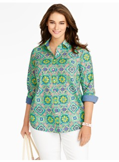 Festive Mosaic Cotton Shirt