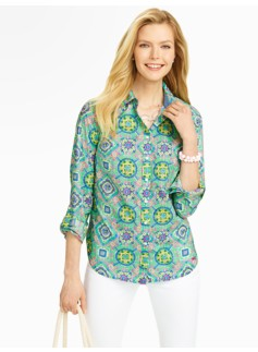 Festive Mosaic Cotton Shirt