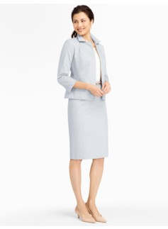 Cotton Viscose Zip-Front Jacket