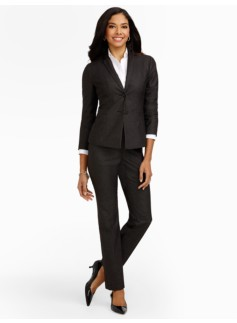 Chic Pindot Two-Button Jacket
