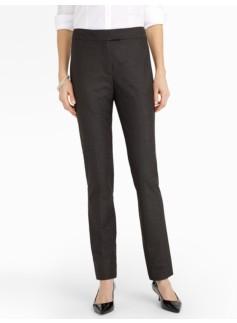 Heritage Chic Pindot Straight-Leg Pants