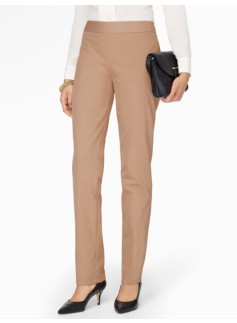 Heritage Side-Zip Cotton Viscose Straight-Leg Pants