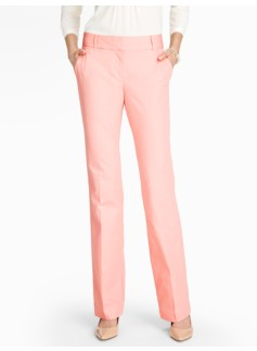 Signature Cotton Viscose Bootcut Pants - Lined