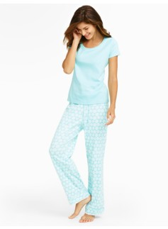 Flower Dot Pajama Set