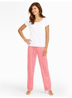 Paisley Ikat Pajama Set