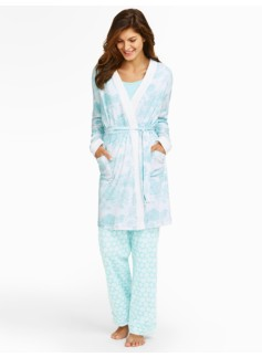 Flower Toile Knit Robe