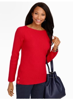 Horizontal-Ribbed Sweater