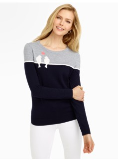 Love Doves Colorblocked Sweater