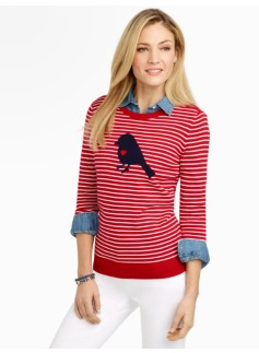Love Dove & Stripes Sweater