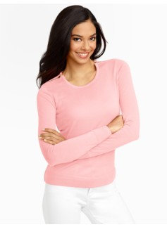 Merino Zip-Shoulders Sweater
