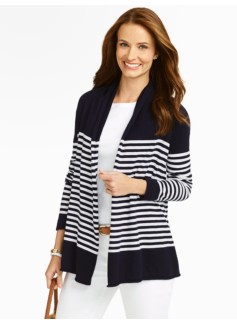 Blocked Stripes Cardigan