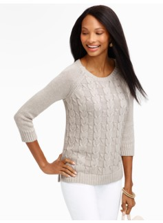 Wishbone Cable-Front Sweater