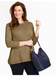Envelope-Shoulder Sweater