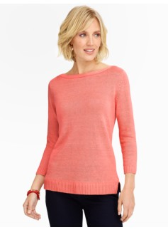 Envelope-Shoulder Sweater