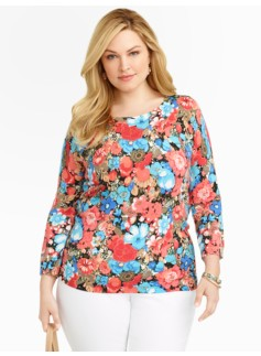 Back-Button Daisy Sweater